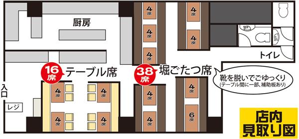ニパチ栄広小路店のフロアマップ